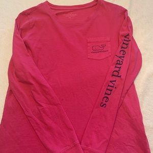 Hot pink Vineyard Vines long sleeve T-shirt